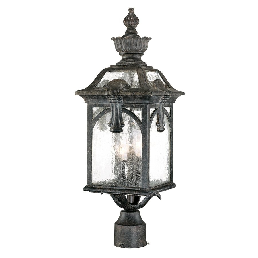 Acclaim Lighting Belmont 24-in H Black Coral Post Light