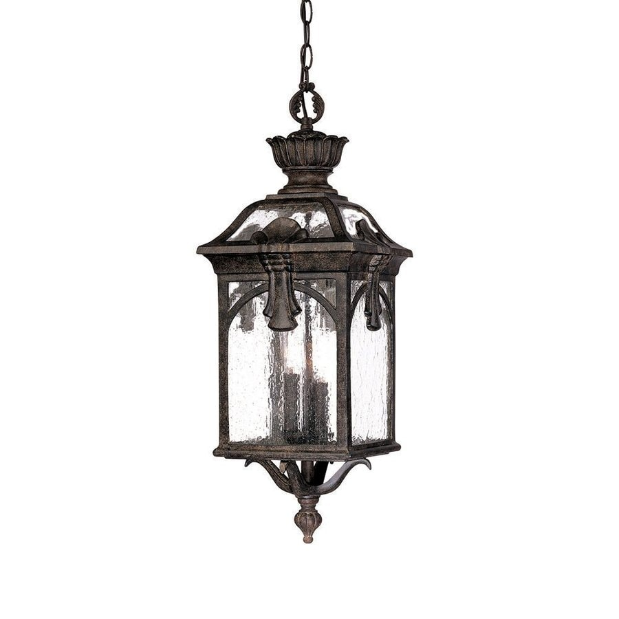Porch Light Pendant: Shop Acclaim Lighting Belmont 26-in H Black Outdoor