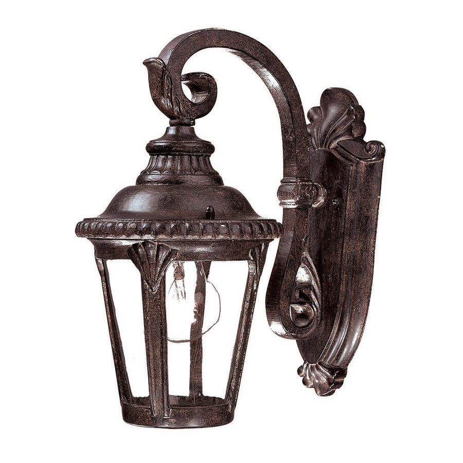 Acclaim Lighting Surrey 12.25-in H Black Coral Outdoor Wall Light