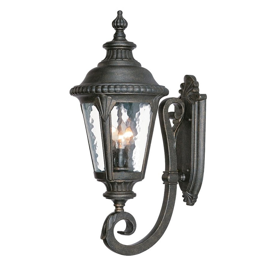 Acclaim Lighting Surrey 24-in H Black Gold Candelabra Base (E-12) Outdoor Wall Light