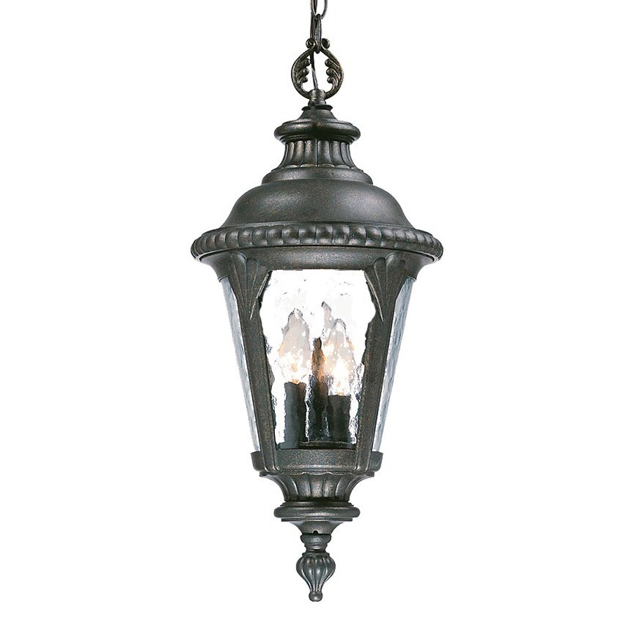 Acclaim Lighting Surrey 21.75-in Black Gold Outdoor Pendant Light