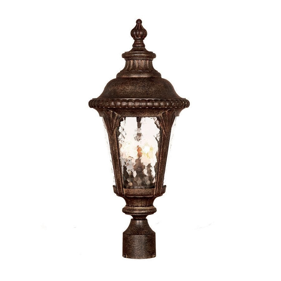 Acclaim Lighting Surrey 22.625-in H Black Coral Post Light