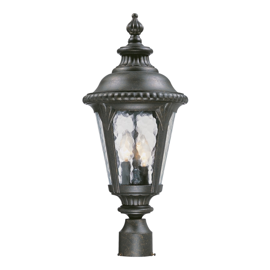 Acclaim Lighting Surrey 22.625-in H Black Gold Post Light