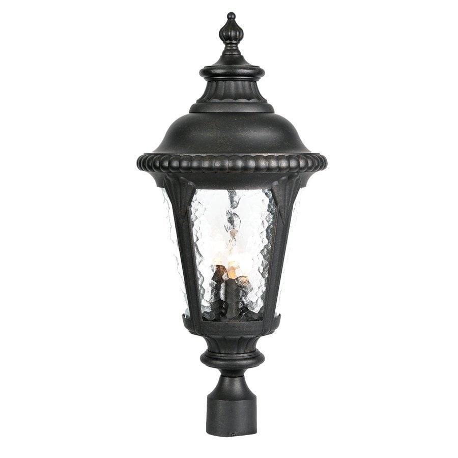Acclaim Lighting Surrey 23-in H Matte Black Post Light
