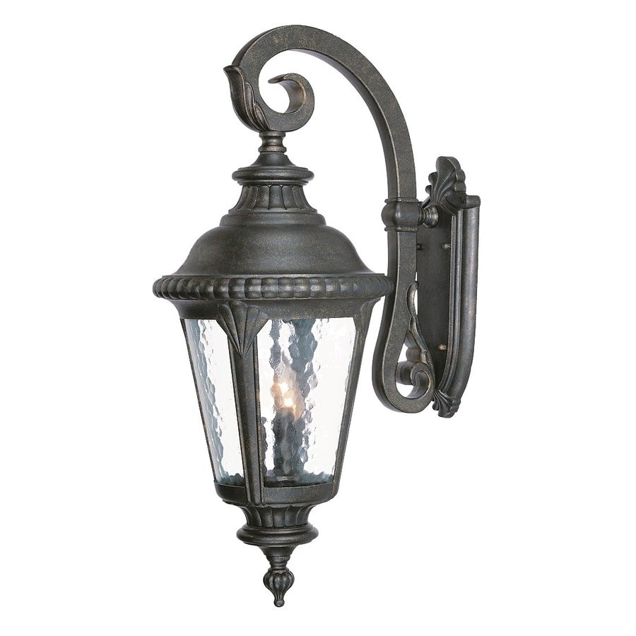 Gold Outside Wall Lights : Shop Acclaim Lighting Surrey 29.5-in H Black Gold Outdoor Wall Light at Lowes.com