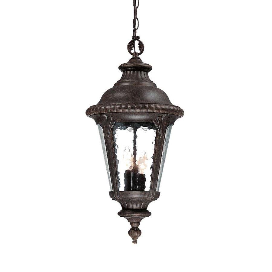 Acclaim Lighting Surrey 25-in H Black Outdoor Pendant Light