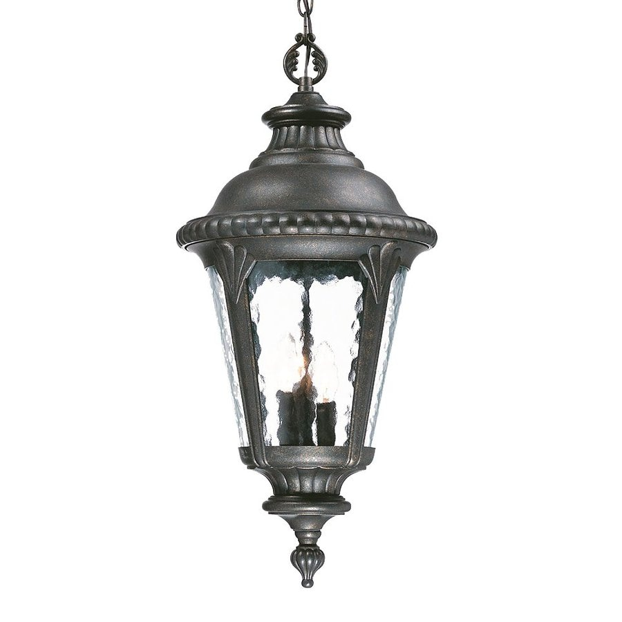 Acclaim Lighting Surrey 25.5-in Black Gold Outdoor Pendant Light