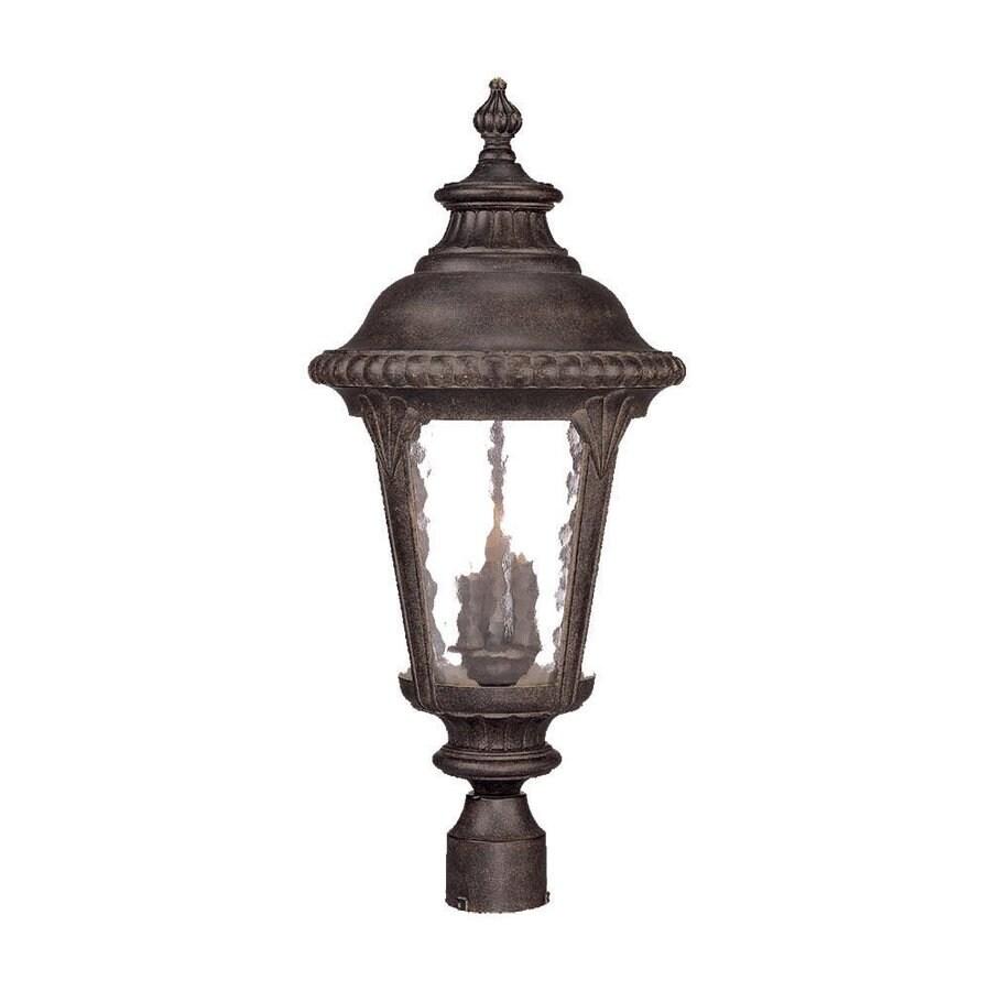 Acclaim Lighting Surrey 26.5-in H Black Coral Post Light