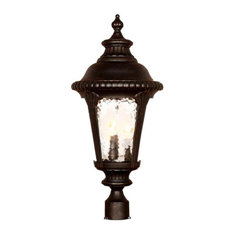 Acclaim Lighting Surrey 26.5-in H Black Gold Post Light