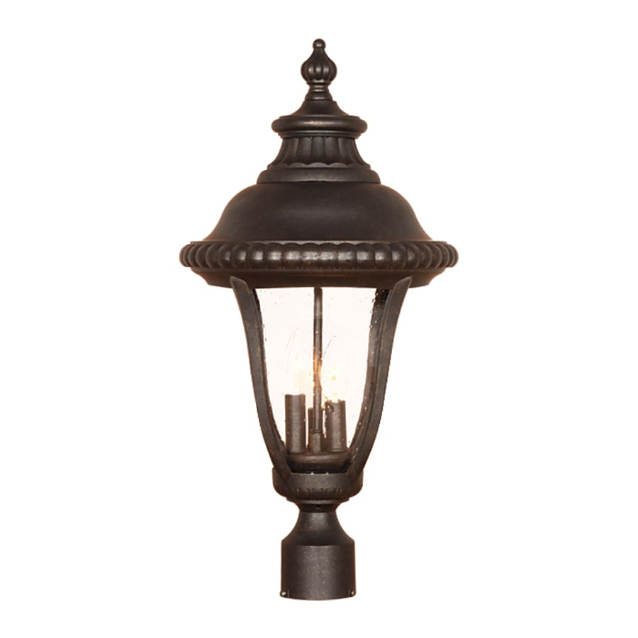 Acclaim Lighting Windsor 25.5-in H Black Gold Post Light