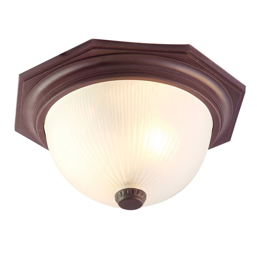 Acclaim Lighting Outer Banks 14-in W Architectural Bronze Outdoor Flush-Mount Light
