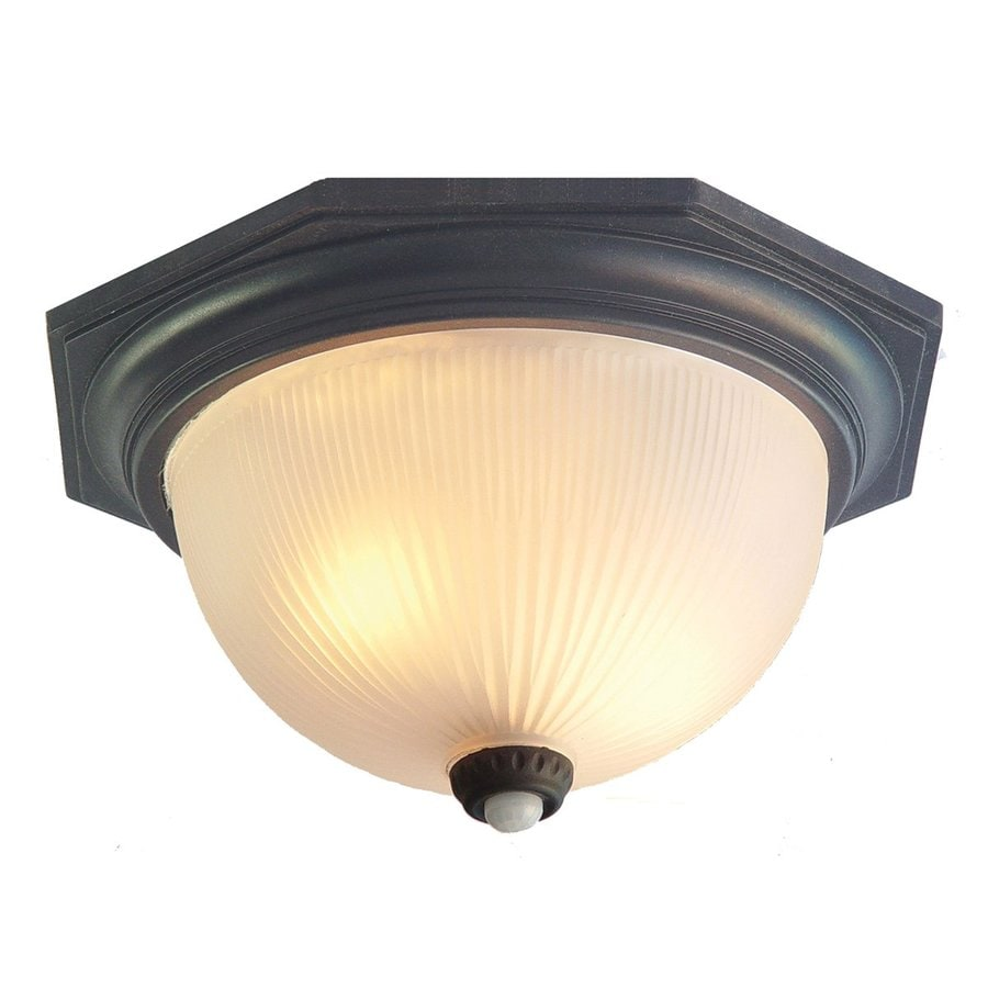 Outdoor Motion Activated Ceiling Light: Shop Acclaim Lighting Outer Banks 14-in W Matte Black