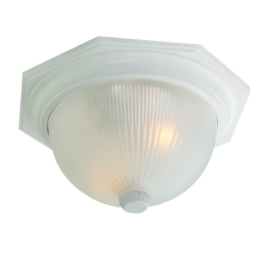 Acclaim Lighting Outer Banks 14-in W Textured White Outdoor Flush-Mount Light