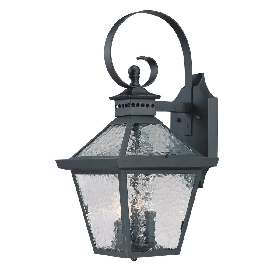 Acclaim Lighting Bay Street 21-in H Matte Black Outdoor Wall Light