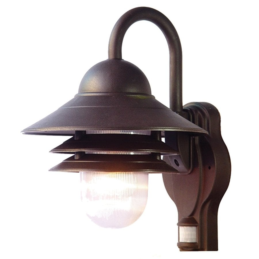Shop Acclaim Lighting Mariner 13 In H Architectural Bronze Motion Activated Outdoor Wall Light