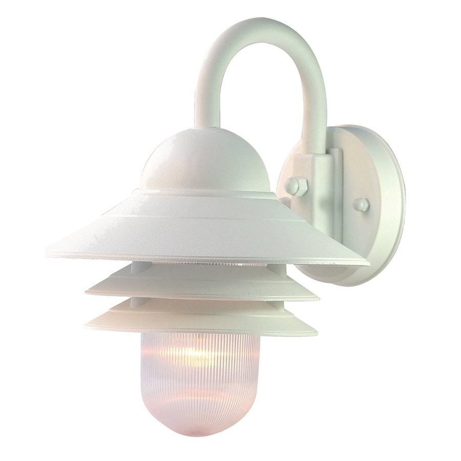 Shop Acclaim Lighting Mariner 13 In H Textured White Outdoor Wall Light At