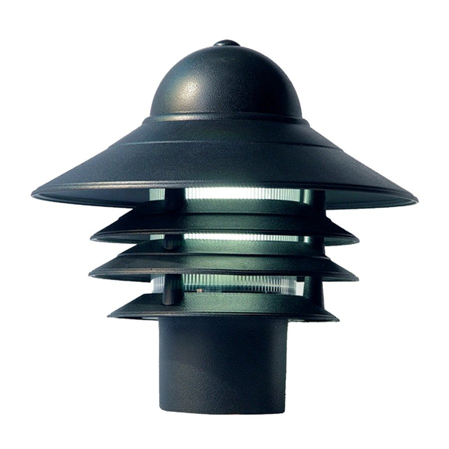 Acclaim Lighting Mariner 10-in H Matte Black Post Light