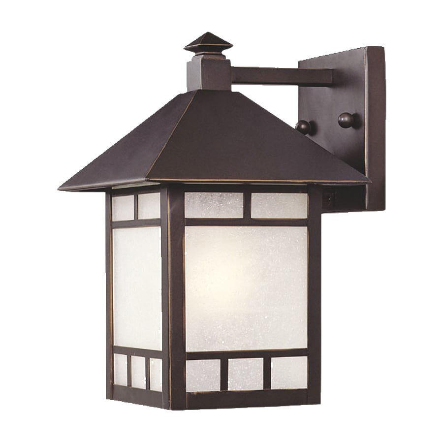 Shop Acclaim Lighting Artisan H Architectural Bronze Outdoor Wall Li