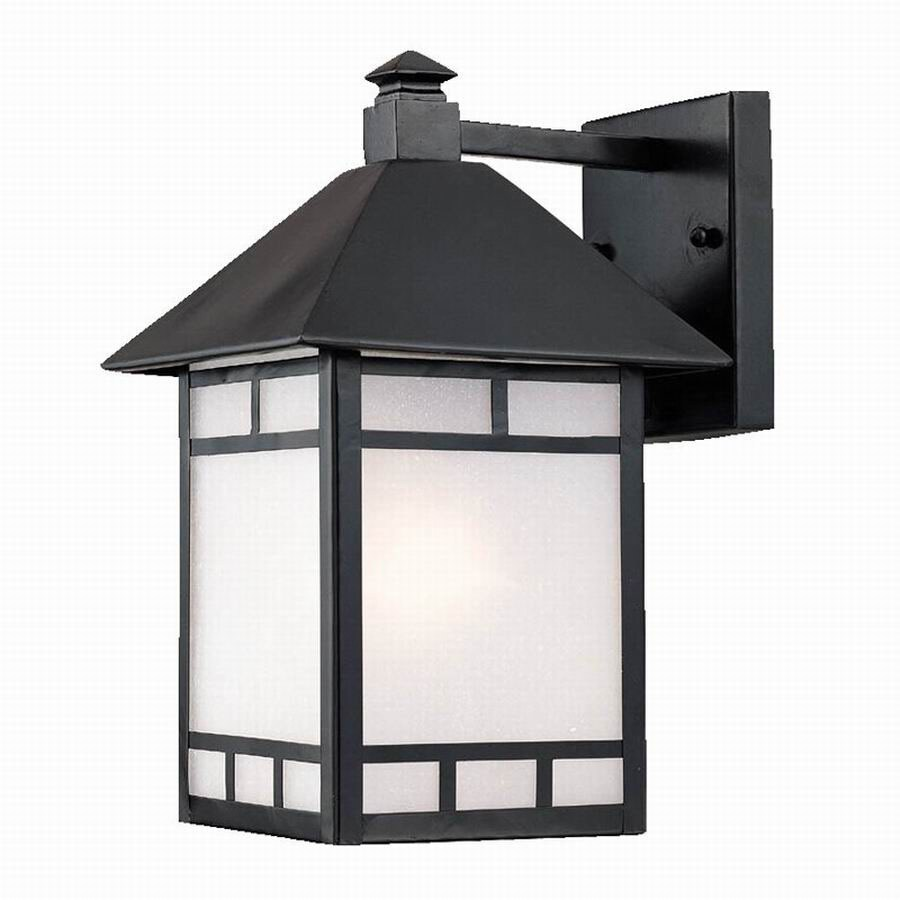Acclaim Lighting Artisan 15-in H Matte Black Medium Base (E-26) Outdoor Wall Light
