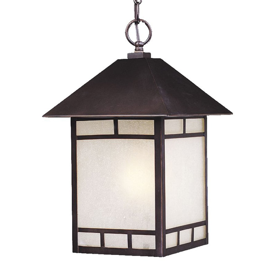 Shop acclaim lighting artisan 16 in architectural bronze Outdoor pendant lighting