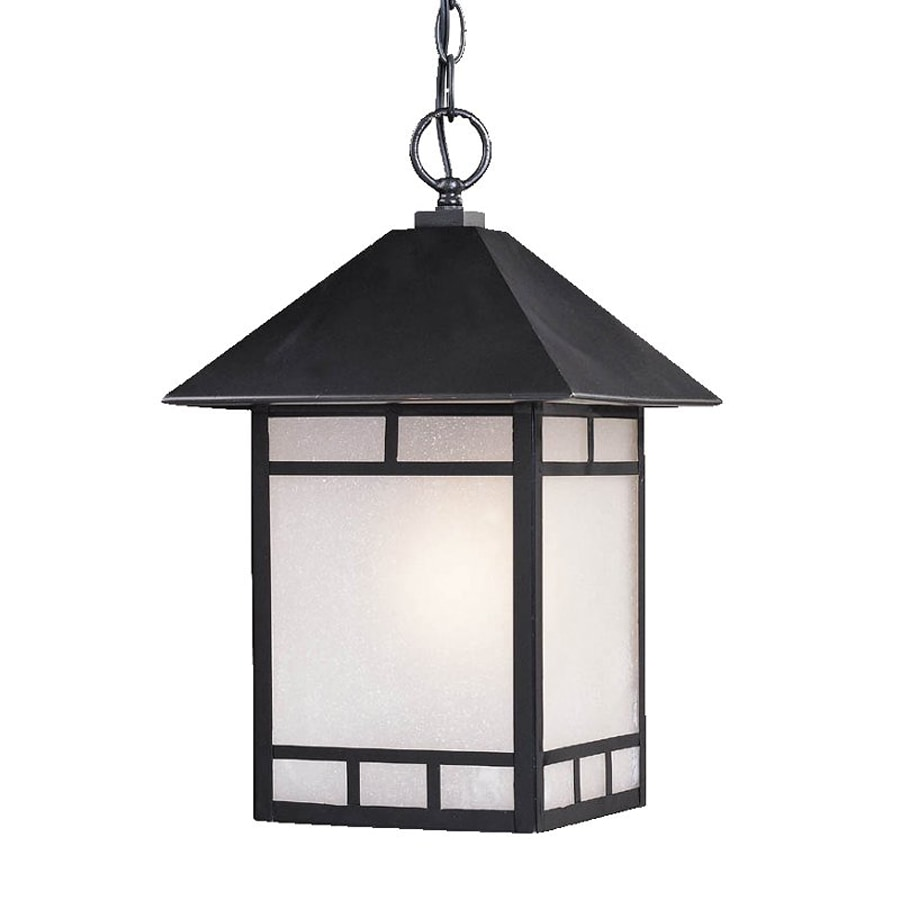 Shop acclaim lighting artisan 16 in matte black outdoor Outdoor pendant lighting