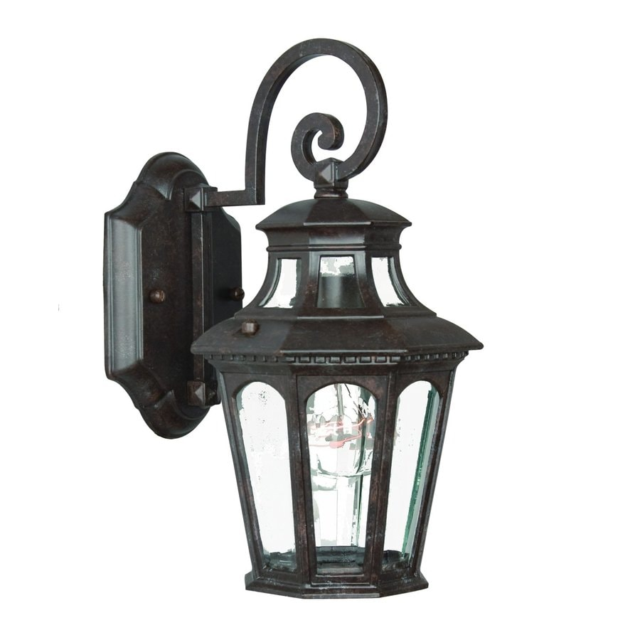 Acclaim Lighting Newcastle 12.5-in H Marbleized Mahogany Outdoor Wall Light