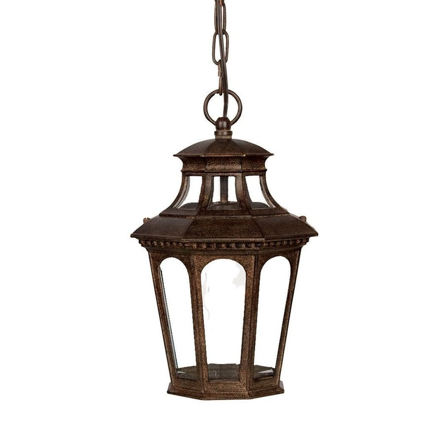 Acclaim Lighting Newcastle 13.75-in Black Coral Outdoor Pendant Light