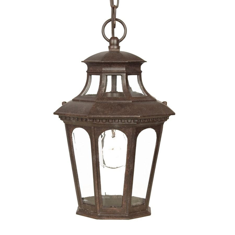 Acclaim Lighting Newcastle 13.75-in Marbleized Mahogany Outdoor Pendant Light