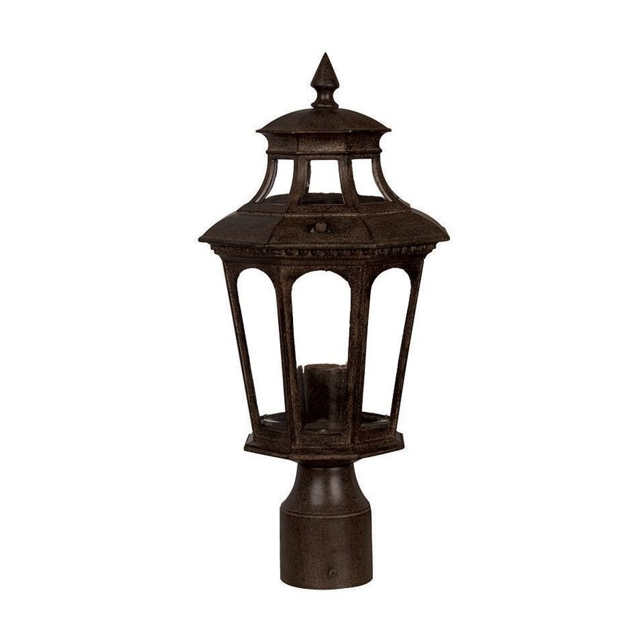 Acclaim Lighting Newcastle 16.5-in H Black Coral Post Light