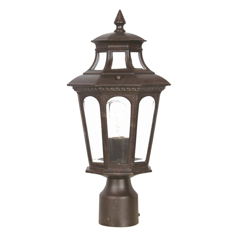 Acclaim Lighting Newcastle 16.5-in H Marbleized Mahogany Post Light