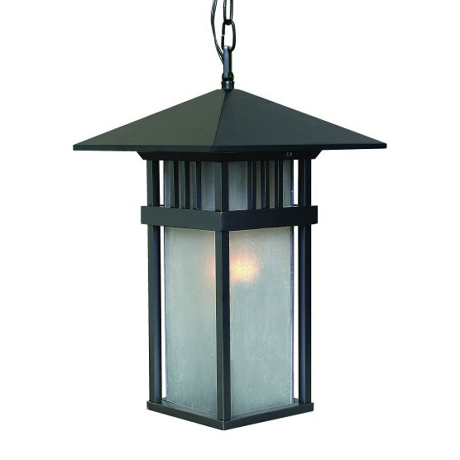 Acclaim Lighting Bali 18-in H Black Outdoor Pendant Light