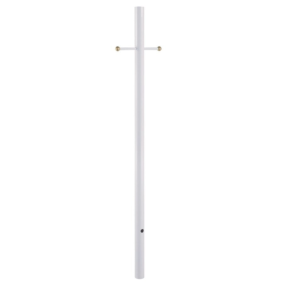 Acclaim Lighting Gloss White 84-in Post Light Pole