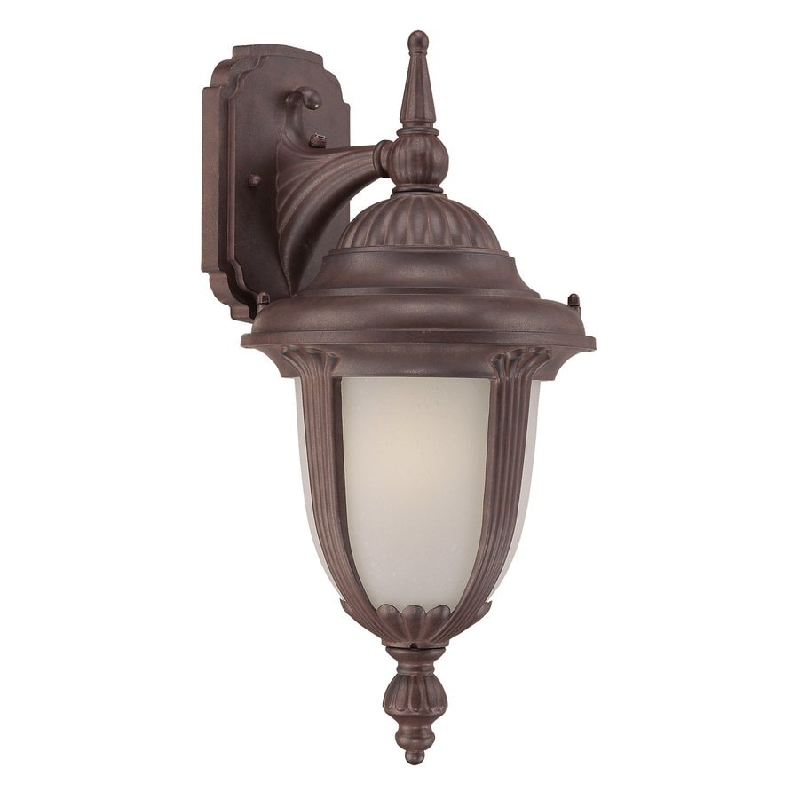 Acclaim Lighting Monterey 20.75-in H Burled Walnut  Gu24 Pin Base Outdoor Wall Light ENERGY STAR
