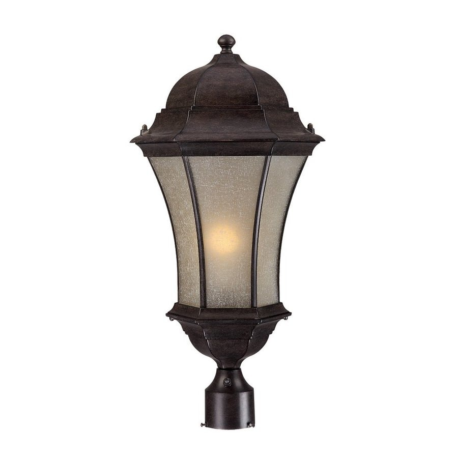 Acclaim Lighting Waverly 25-in H Black Coral Post Light
