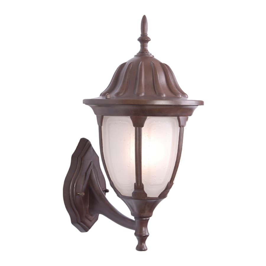 Acclaim Lighting Suffolk 18.25-in H Burled Walnut Outdoor Wall Light