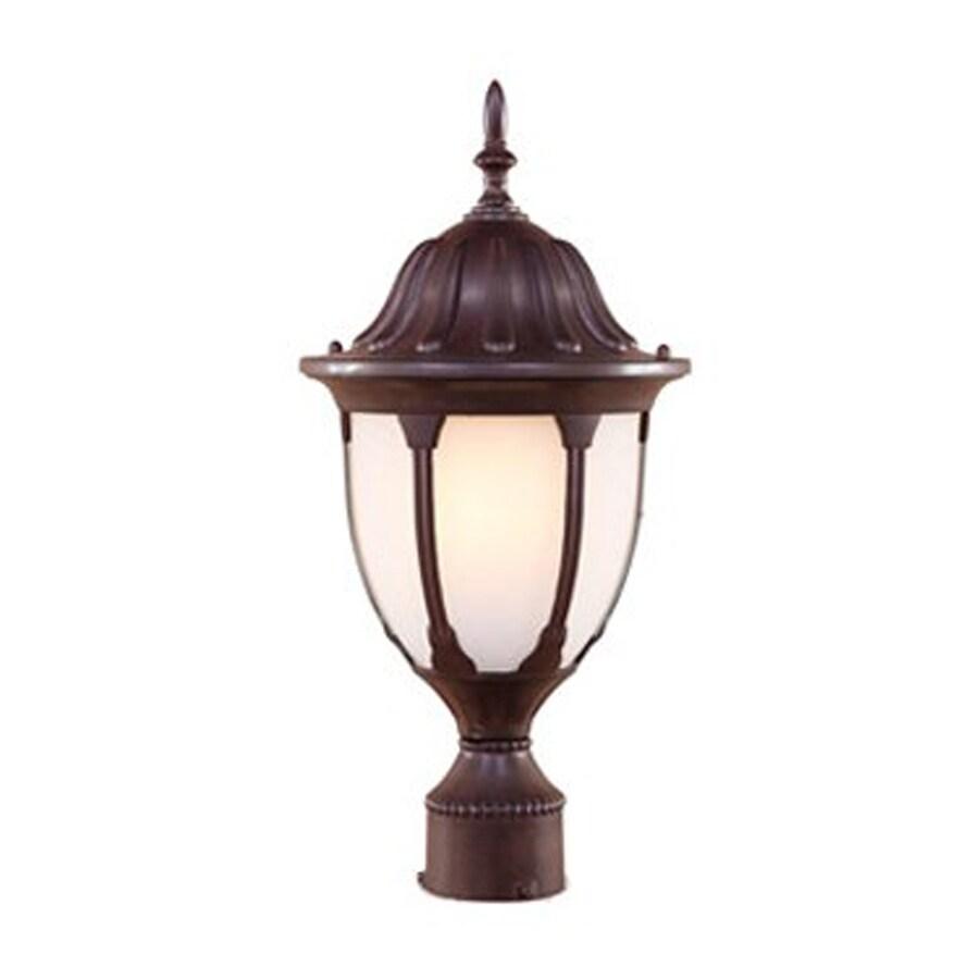 Acclaim Lighting Suffolk 19-in H Burled Walnut Post Light