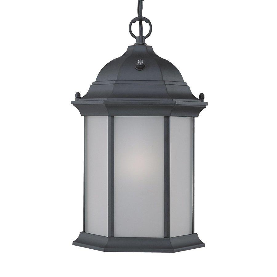 Acclaim Lighting Madison 14-in Matte Black Outdoor Pendant Light