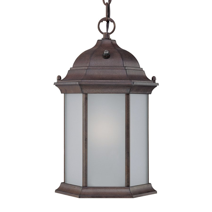 Shop Acclaim Lighting Madison 14 In Burled Walnut Outdoor Pendant Light At Lo