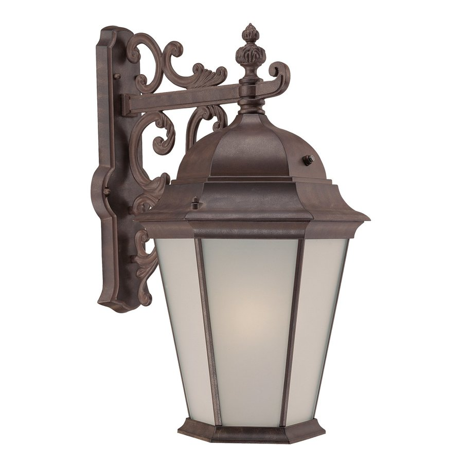 Acclaim Lighting Richmond 23.5-in H Burled Walnut Outdoor Wall Light