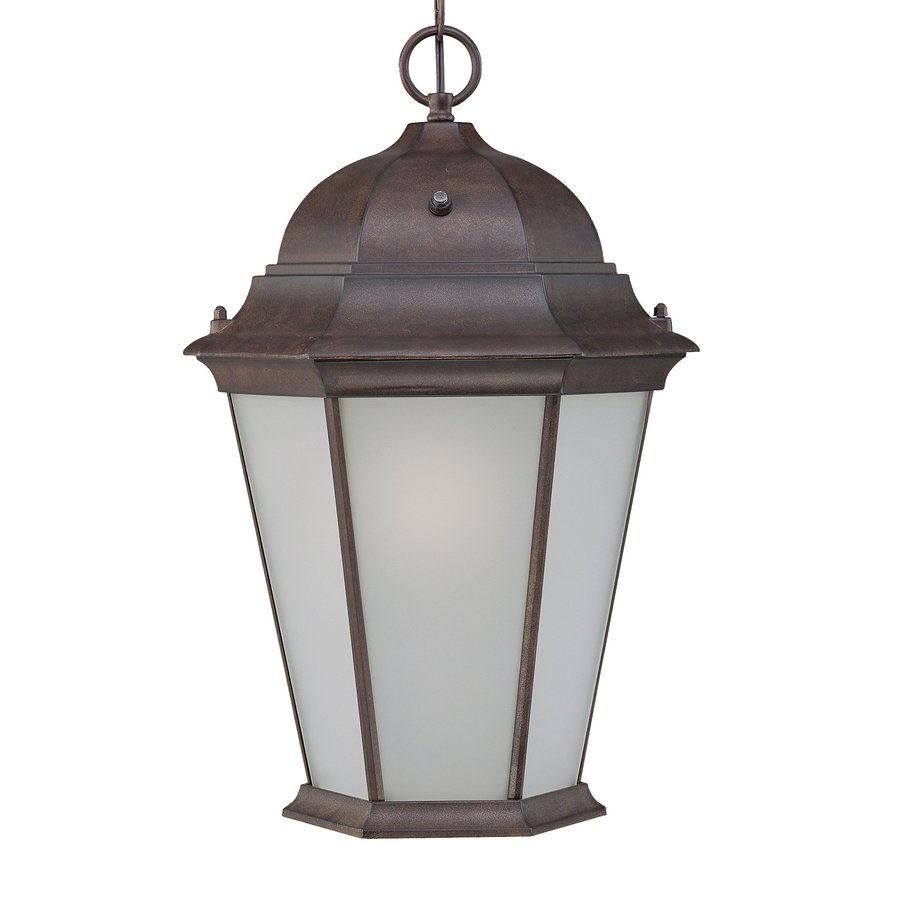 Acclaim Lighting Richmond 18.5-in Burled Walnut Outdoor Pendant Light