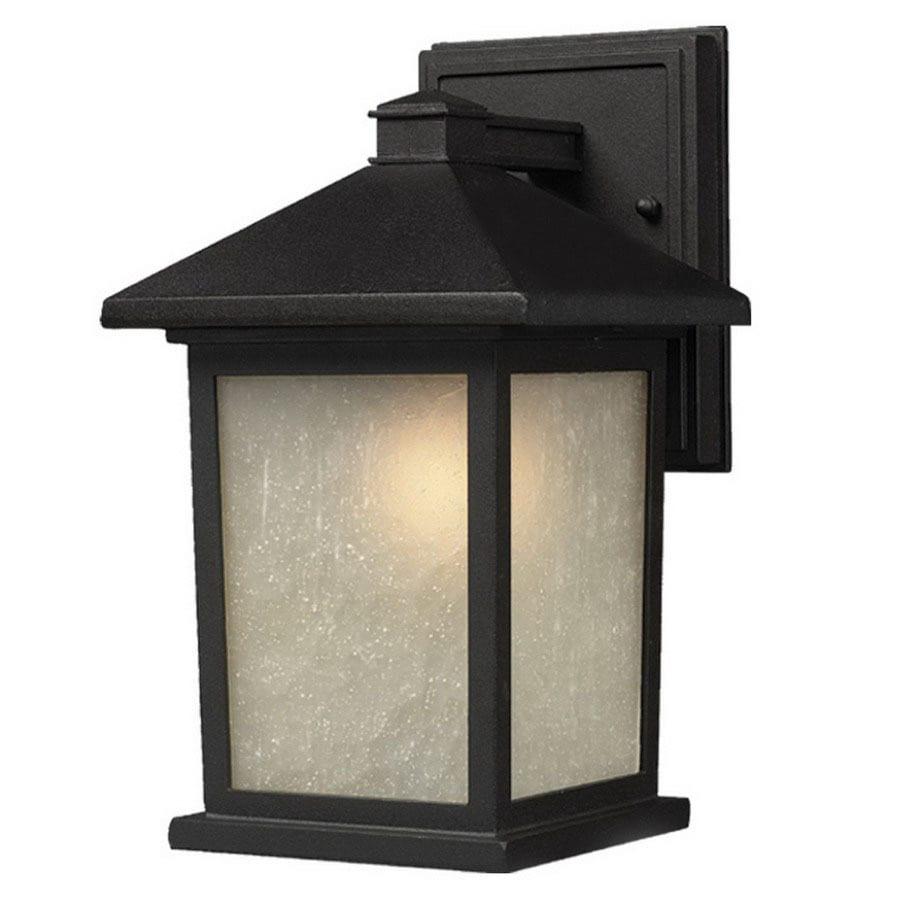 Z-Lite Holbrook 15.625-in H Black Outdoor Wall Light
