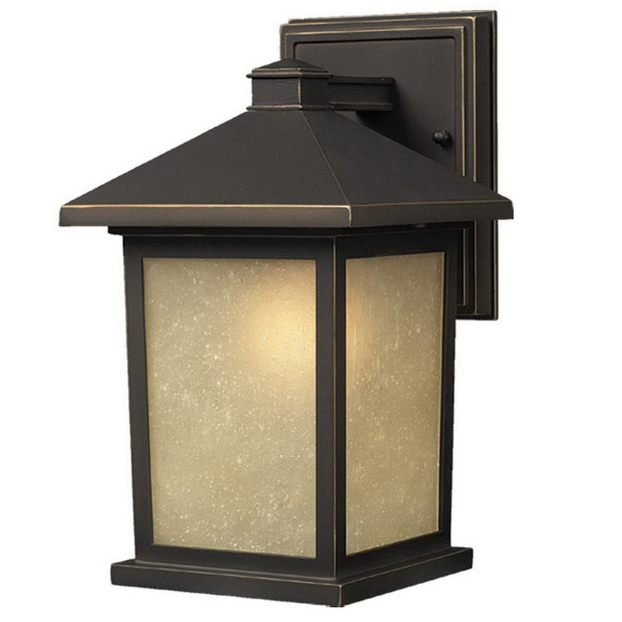 Z-Lite Holbrook 15.625-in H Oil-Rubbed Bronze Outdoor Wall Light