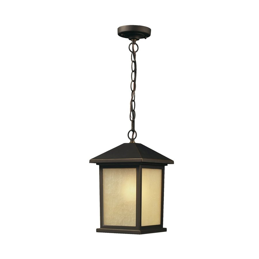 Z-Lite Holbrook 15-in Oil-Rubbed Bronze Outdoor Pendant Light