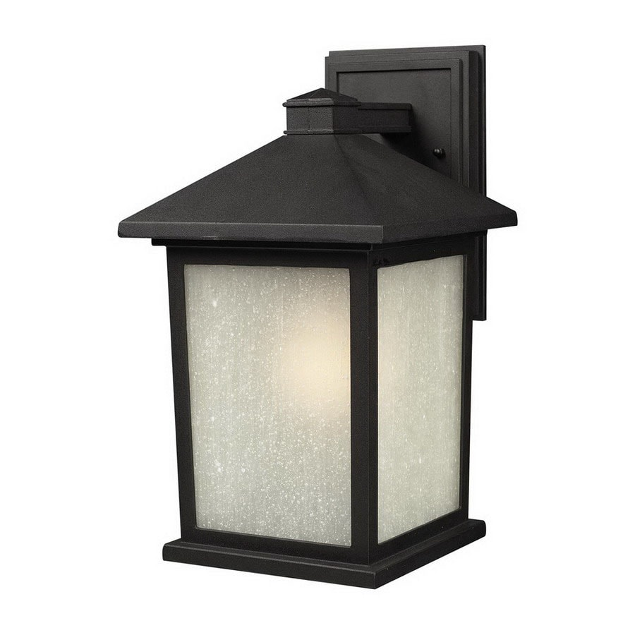 Z-Lite Holbrook 14-in H Black Outdoor Wall Light