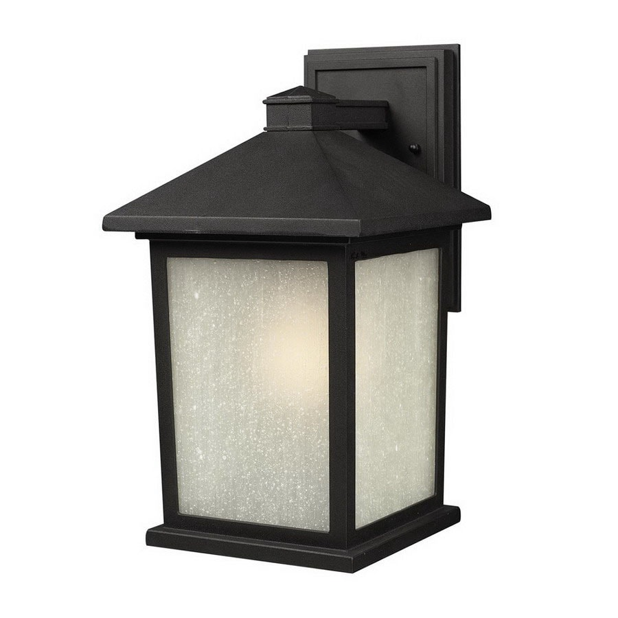 Z-Lite Holbrook 9.75-in H Black Outdoor Wall Light