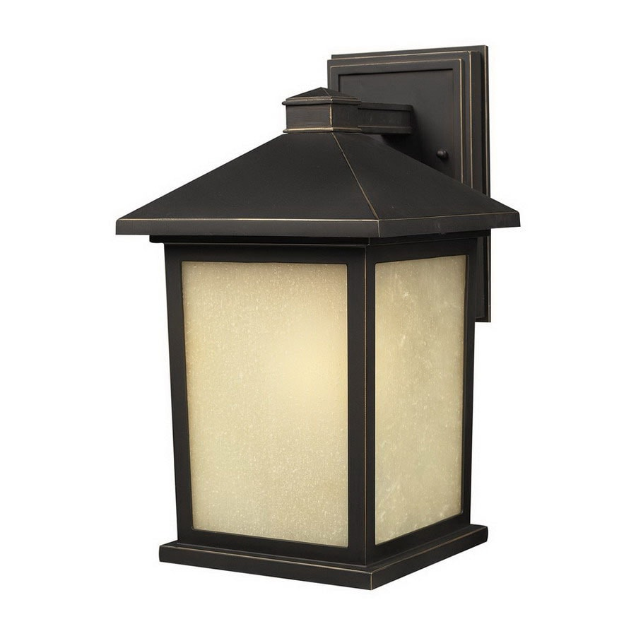 Z-Lite Holbrook 10.5-in H Oil-Rubbed Bronze Outdoor Wall Light