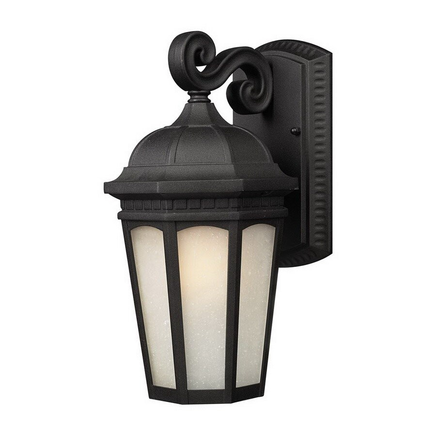 Z-Lite Newport 15.75-in H Black Outdoor Wall Light