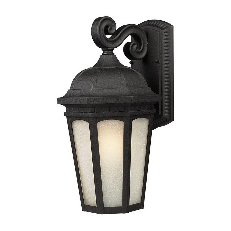 Z-Lite Newport 11.875-in H Black Outdoor Wall Light