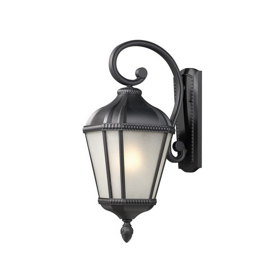 Z-Lite Waverly 22.5-in H Black Outdoor Wall Light