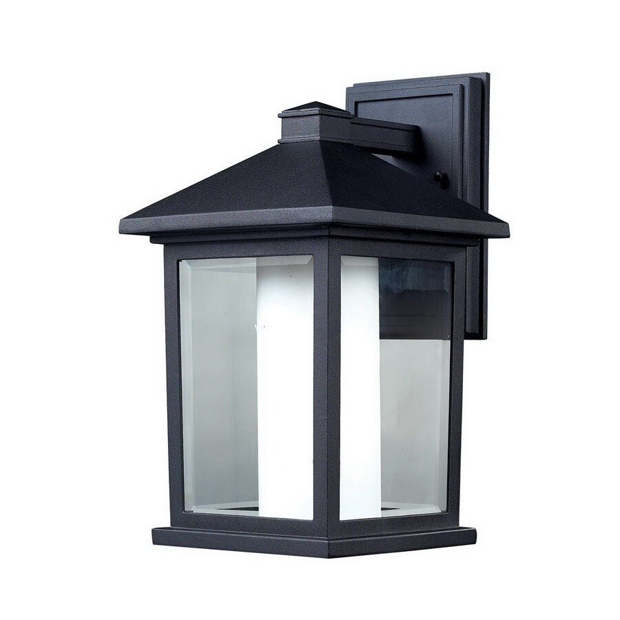 Z-Lite Mesa 14-in H Black Outdoor Wall Light